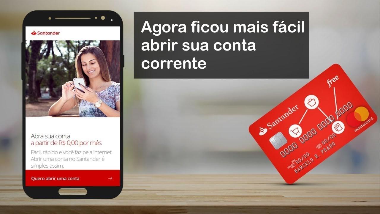 Como Abrir Conta Santander Pelo Celular