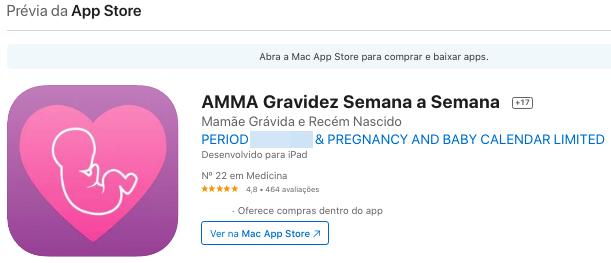Aplicativo Para Saber Quantas Semanas De Gravidez Pelo iPhone Fonte: App Store