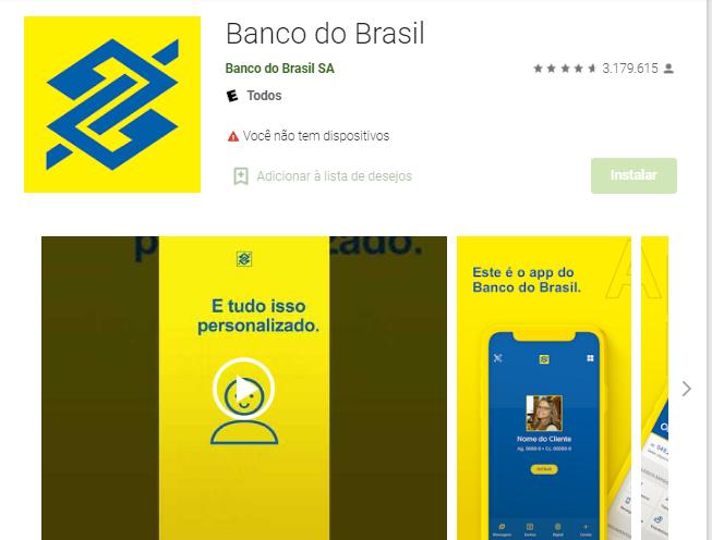 Baixar Aplicativo Do Banco Do Brasil Para Ver Saldo Fonte: Google Play