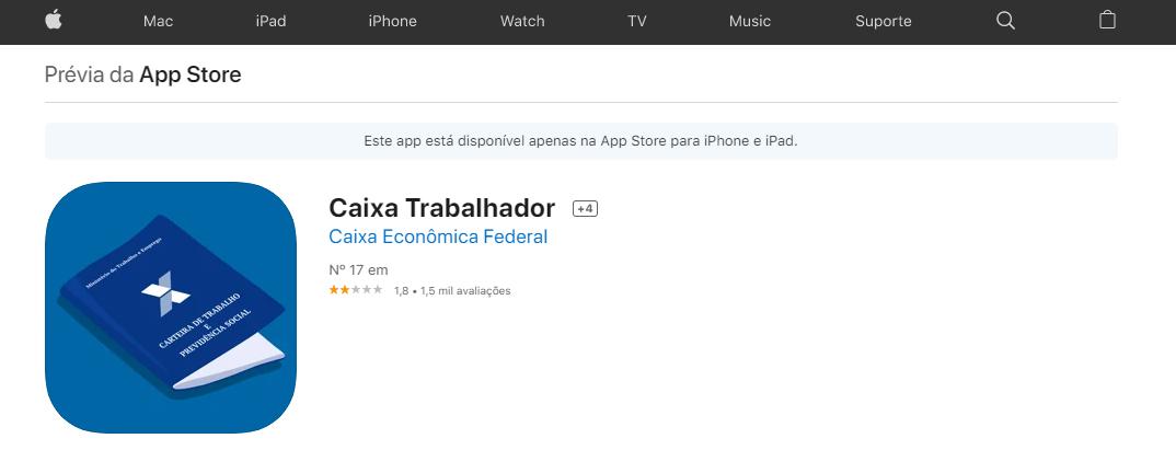 Baixar App Para Saber O Pasep Fonte: App Store