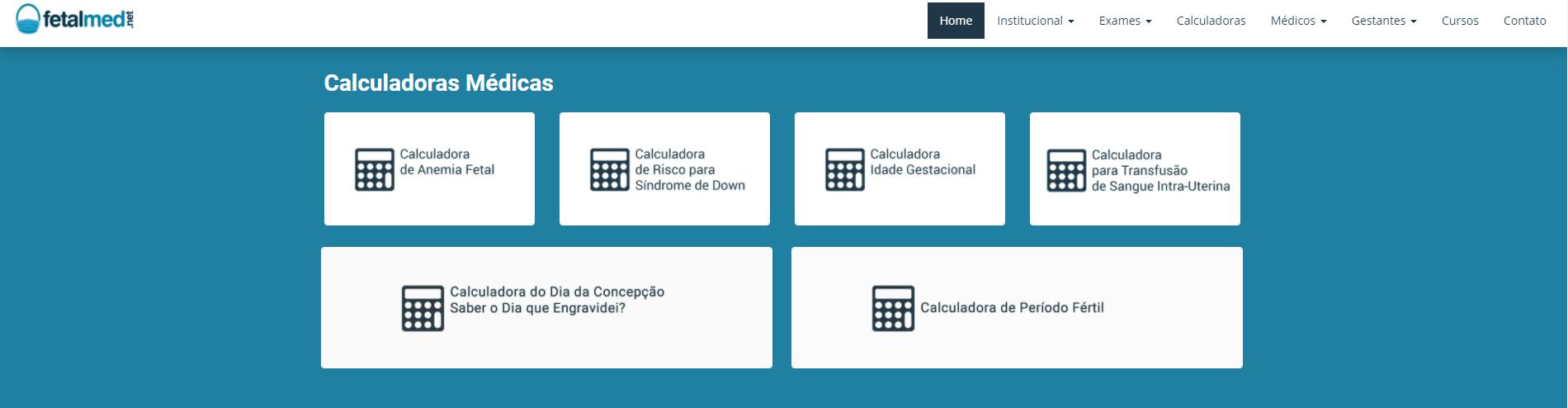Aplicativo Para Saber Quantas Semanas De Gravidez Pelo PC Fonte: Captura De Tela Site Oficial FetalMed