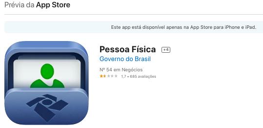 Aplicativo Para iPhone Para Ver Score Do CPF Fonte: App Store