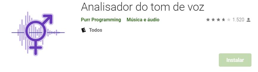 App Para Detectar O Tom Da Voz Pelo Android(Fonte Play Store)