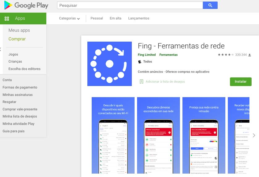 Aplicativo Android Para Saber Quantas Pessoas Estão Usando O Wi-Fi Fonte: Google Play